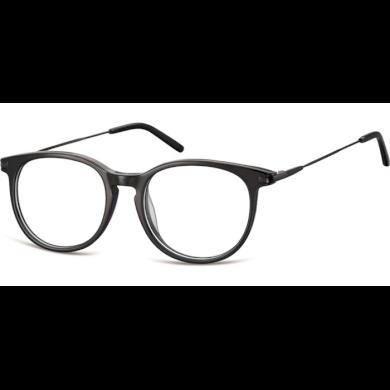 Ovalné brýle bez dioptrii Verbose- černé Olympic eyewear SUNCP149