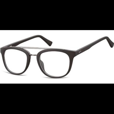 Ovalné brýle bez dioptrii Reverend - černé Olympic eyewear SUNCP135