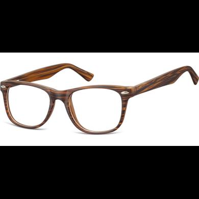 Brýle bez dioptrii wayfarer Timber - hnědé Olympic eyewear SUNCP134G