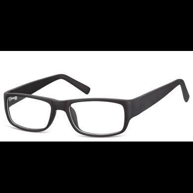 Obdelníkové brýle bez dioptrii Dispenser - černé Olympic eyewear SUNCP158