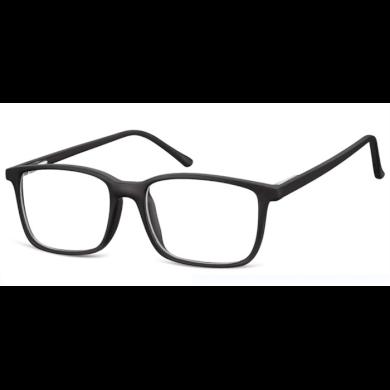 Obdelníkové brýle bez dioptrii Prudent - černé Olympic eyewear SUNCP160