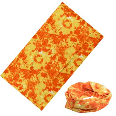 Multifunkční šatka Batikovaná Oranžová 40x22cm Artofpolo FAKT001