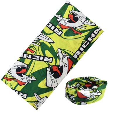 Multifunkční šatka I am Angry - Zelená 48x25cm Artofpolo FAKT008