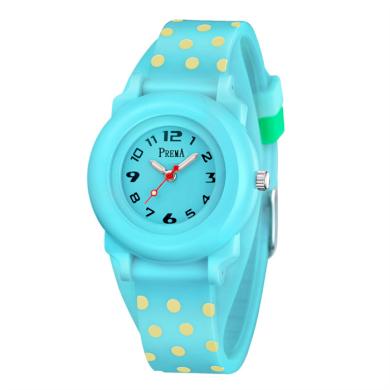 Prema dívčí silikonové hodinky Polka Dots - tyrkysové Shim Watch 180604114816