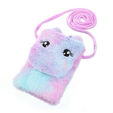 Dětská chlupatá kabelka na mobil Jednorožcem  Lifestyle BNL-012585