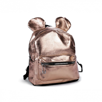 Dívčí batoh s metalickým leskem růžové zlato Lifestyle F810315SS03