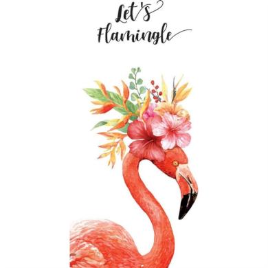Plážová osuška 170x90cm Lets Flamingle Carla CARREC44WZ23