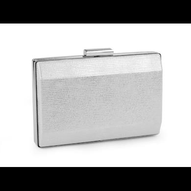 Metalické elegantní psaníčko Stříbrné Lifestyle F810281ss01