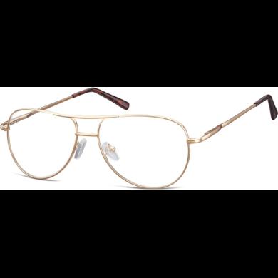 Nedioptrické brýle Retro Aviator číré- Zlaté Montana NT699B