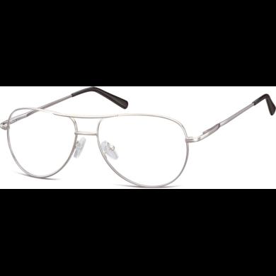 Nedioptrické brýle Retro Aviator číré- Stříbrné Montana NT699E