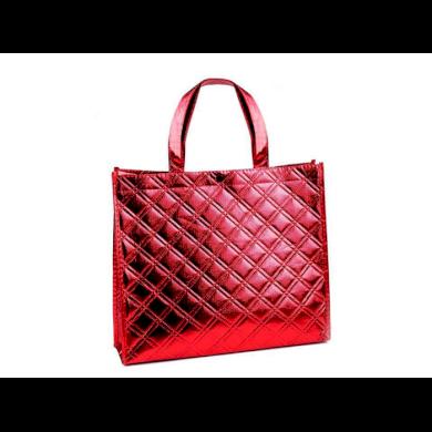 Lesklá metalická taška Střední červená Lifestyle F810219ss02