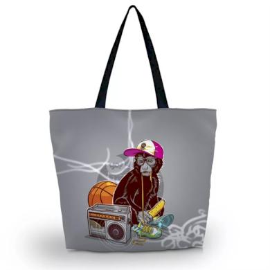 Huado nákupní a plážová taška - Opice na tahu Huado GW-65555