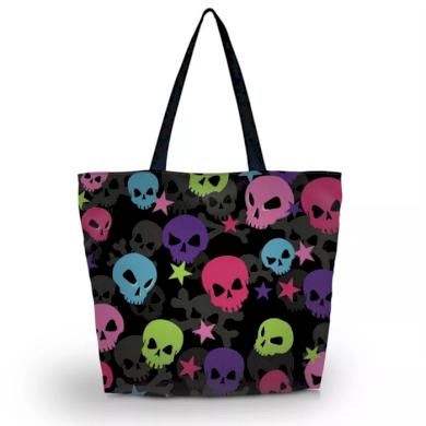 Huado nákupní a plážová taška - Happy Skulls Huado GW-64444