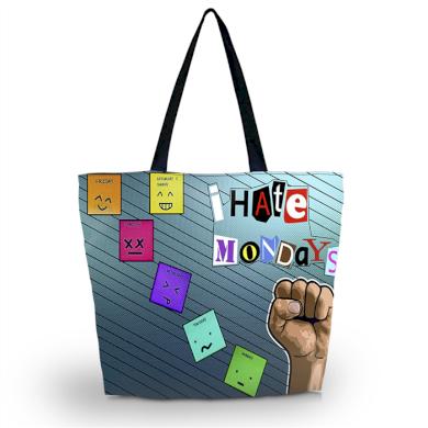 Huado nákupní a plážová taška - I hate mondays Huado GW-18361