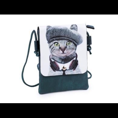 Dívčí malá kabelka s klopou Kočka s baretem Stoklasa F810277ss07
