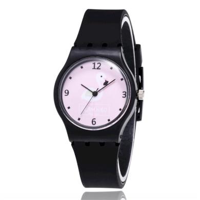 Dívčí silikonové hodinky Plameňáci Flamingo black Shim Watch 190612173720B