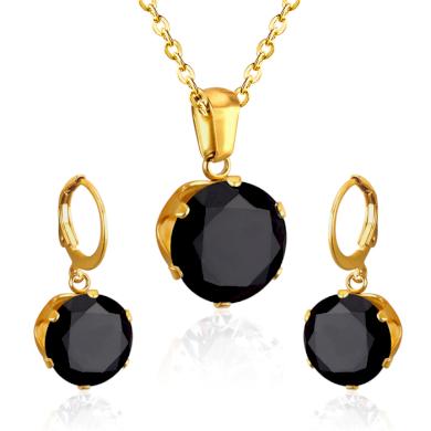 Souprava šperků z chirurgické oceli Zlato černý  Impress Jewelry 200724190453_GBC