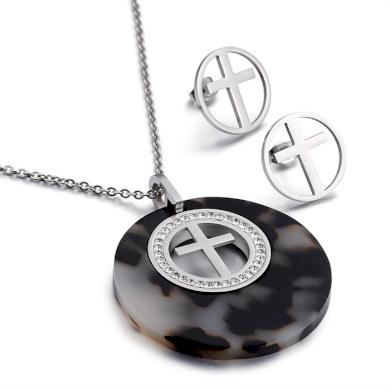 Sada šperků z oceli I Believe Černo stříbrný Impress Jewelry 191220151126