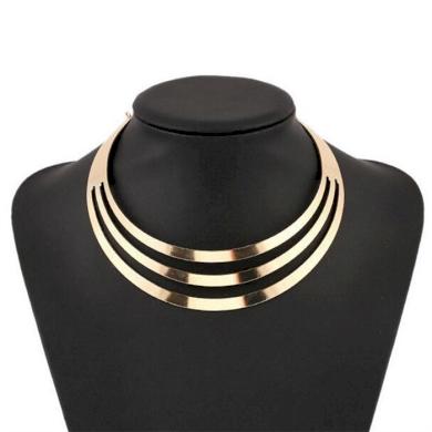 Geometrický kruhový Choker náhrdelník Zlatý Lodestar 190820145341GL