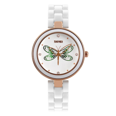 Skmei 9131 dámske keramické hodinky Magic Dragonfly SKMEI SKM9131DF