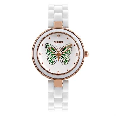 Skmei 9131 dámske keramické hodinky Magic Butterfly SKMEI SKM9131BT