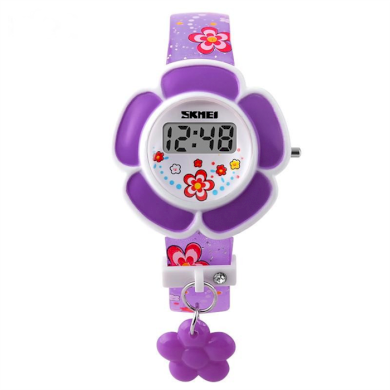 SKMEI 1144 digitální dívčí hodinky Flowers Fialové SKMEI SKM1144V