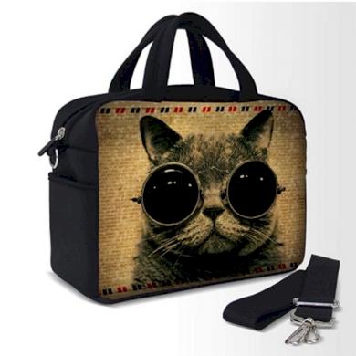 Pikniková termotaška přes rameno Kočka s brýlemi Huado REP-25971