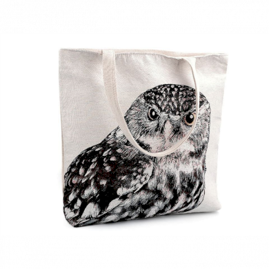 Lněná nákupní nebo plážová taška Sova Lifestyle FS740363SS23