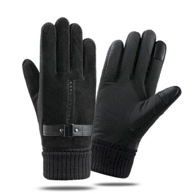 Pánské kožené zateplené rukavice Bobby DARK  Cixi 20120405440955156