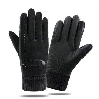 Pánské kožené zateplené rukavice DARK  Cixi 20120405454603857