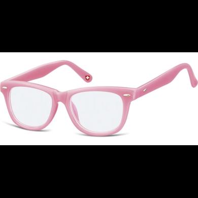 Dětské brýle bez dioptrii Wayfarer - Růžové Montana SUNPK10E