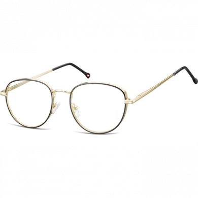 Nedioptrické brýle Oval Outline- Zlato-černé Montana MM589C
