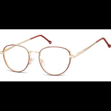 Nedioptrické brýle Oval Outline- Zlato- červené Montana MM589