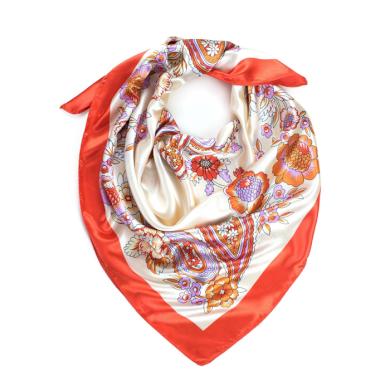 Dámský šátek s ornamenty Flores Orange Artofpolo Fsz20336ss02
