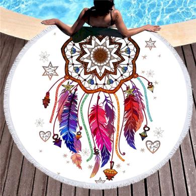 Kruhová plážová osuška Lapač snů Allepaznokcie 19100902130087742