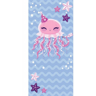 Plážová osuška 150x70cm Růžová chobotnice Carla REC47WZ20