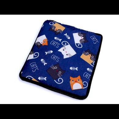 Pevná skládací nákupní taška se zipem Modrá kočka Lifestyle F810311ss07