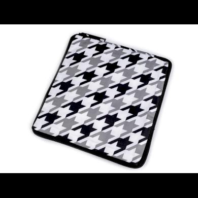Pevná skládací nákupní taška se zipem Bílá-černá Lifestyle F810311ss26
