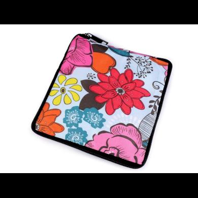 Pevná skládací nákupní taška se zipem Ledové květy Lifestyle F810311ss28