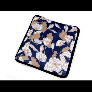 Pevná skládací nákupní taška se zipem Berlín květy Lifestyle F810311ss29