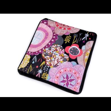 Pevná skládací nákupní taška se zipem Kulaté květy Lifestyle F810311ss30
