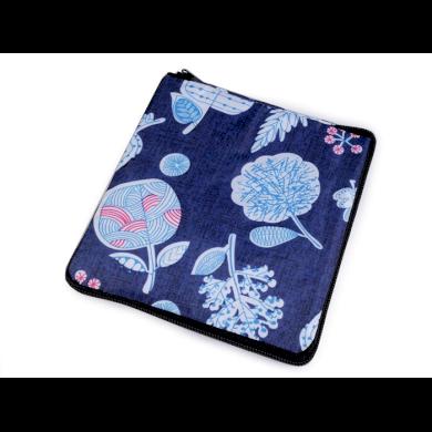 Pevná skládací nákupní taška se Dark flowers Lifestyle F810311ss32