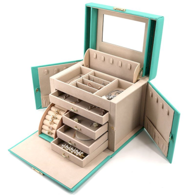 Luxusní kufřík na šperky ETUI Sofie Mátový BMD 200529181739