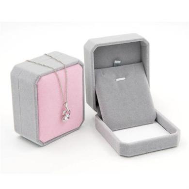 Dárková krabička Šedo-ružový samet 7 × 7 x 4 cm Silver Beads 210318143059