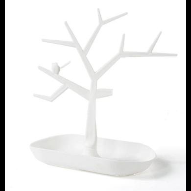 Strom na šperky s ptáčkem Bílý Fuzio 181212173426W