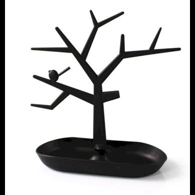Strom na šperky s ptáčkem Černý Fuzio 181212173426B