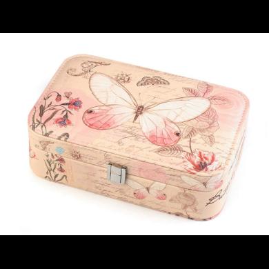 Šperkovnice se zrcátkem Růžový motýlek Fuzio FS740267ss01