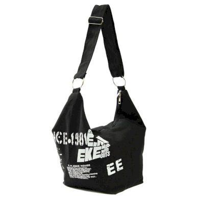 E.M.K dámská plátěná taška černá Lifestyle F17288