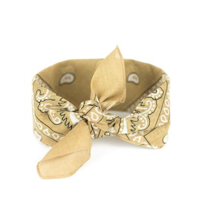 Bavlněný šátek Bandana Béžový Artofpolo FAsz13014SS22