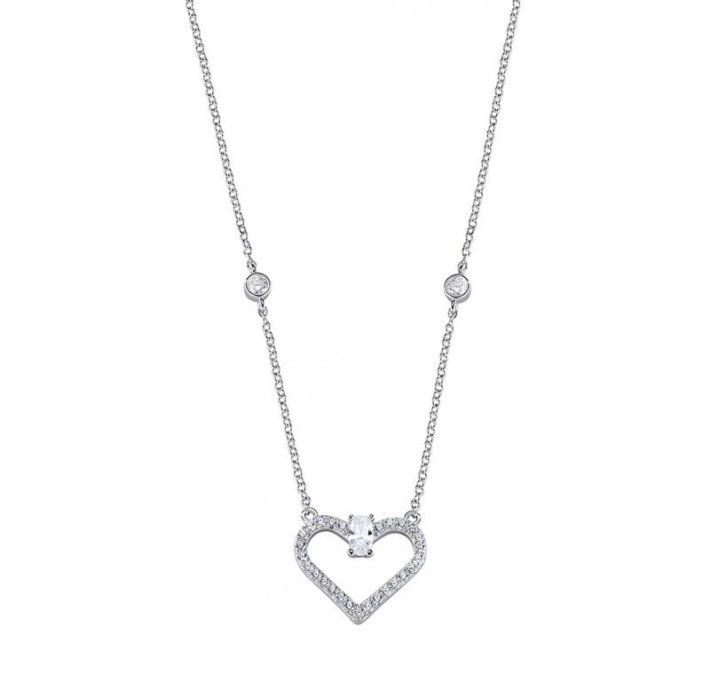 Dámský stříbrný náhrdelník Morellato Cuori SAIV04